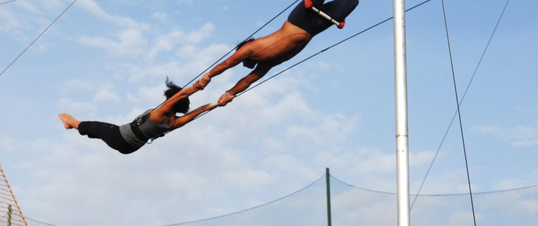 expérience de trapèze volant cirque