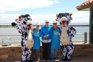 Opération marketing Les 2 vaches sur la plage