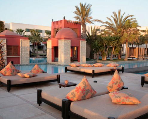 Soleil couchant à Agadir Maroc