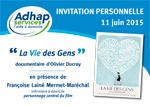 Invitation ADHAP aide à domicile