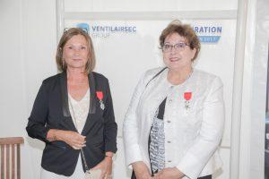 MMe la sous préfète et Michèle POTARD, co-gérante de VENTILAIRSEC GROUP