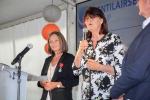 Inauguration locaux VENTILAIRSEC group par mme le Maire de COUERON
