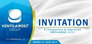 carton invitation soirée inaugurale VENTILAIRSEC GROUP